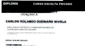FALSOS DIPLOMAS MALAGA CURSO ESCOLTA PRIVADO SEGURIDAD WWW.VAZQUEZABOGADOS.ES